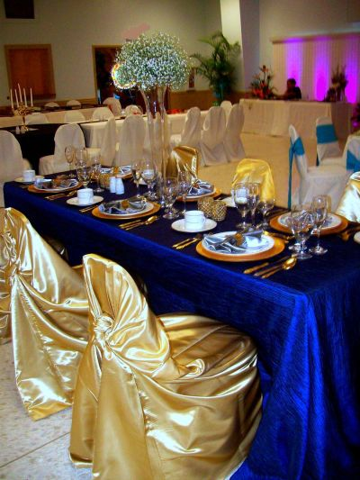 Royal Blue & Gold (not center pieces) | decorations ...