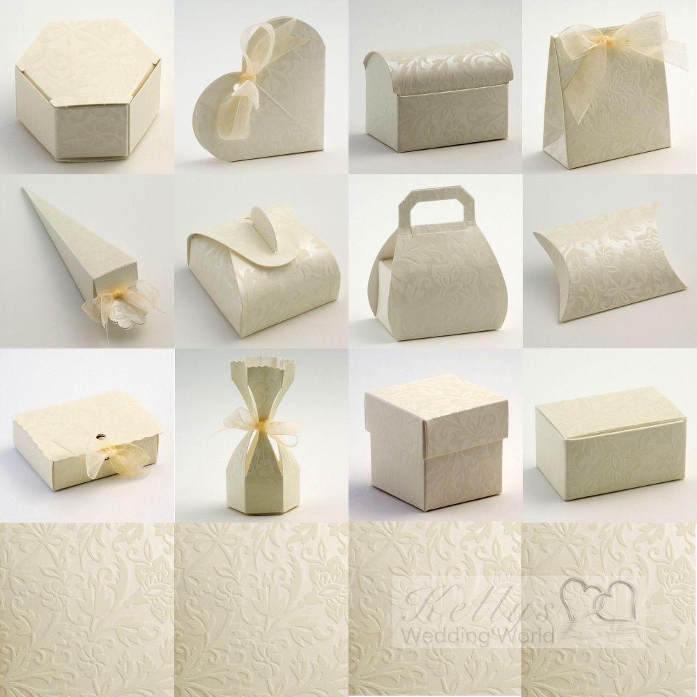 wedding favor boxes Diamante Ivory Wedding Favour Boxes KellysWeddingWorld WeddingParties
