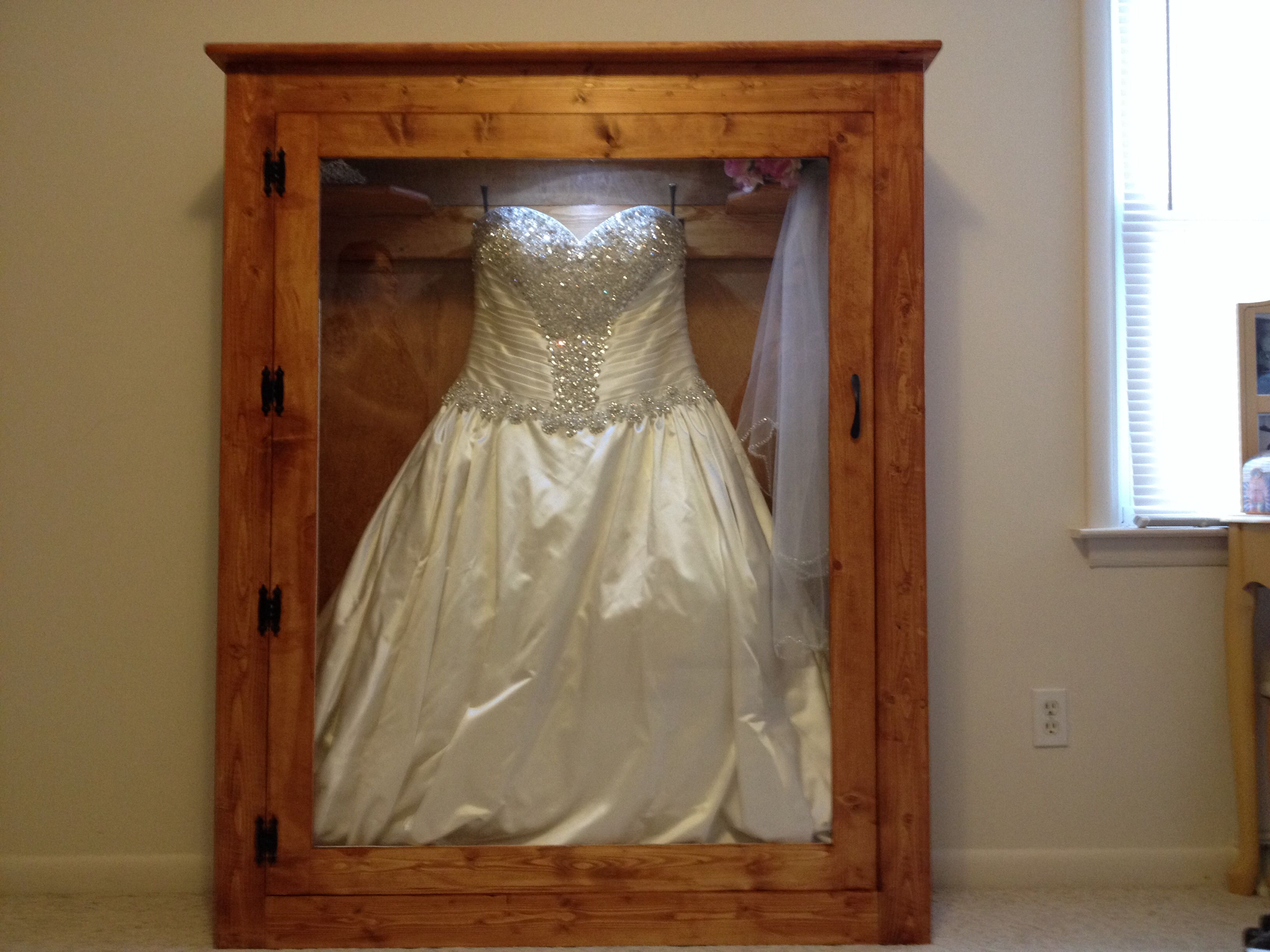 wedding dress shadow box wedding shadow box Best Christmas gift ever my husband made me a shadow box for my wedding dress