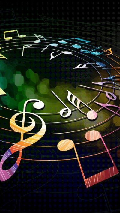 Colorful Musical Notes iPhone 5s wallpaper!