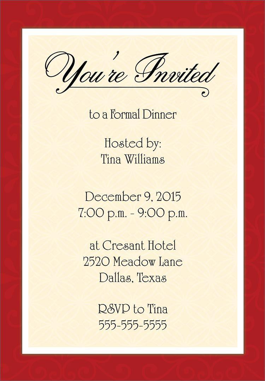 formal event invitation templates