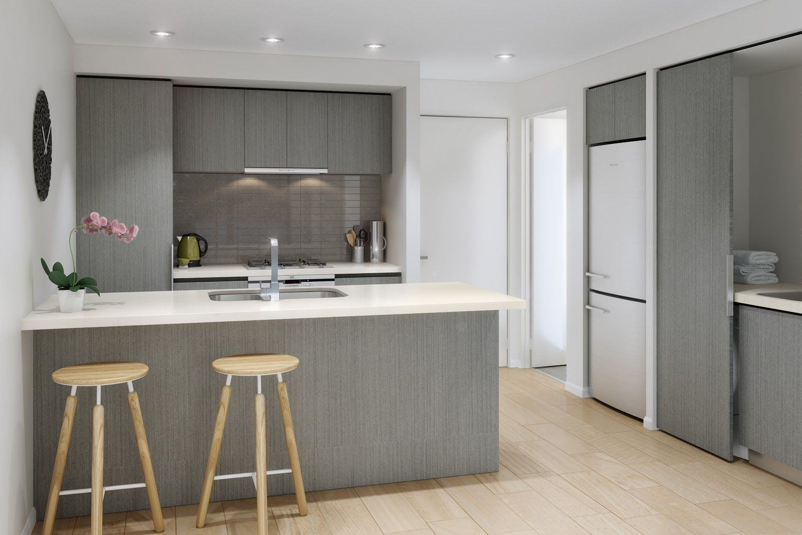kitchen cabinets color combination Funny Wonderful White and Gray Kitchen Color Scheme with Amazing Color Combinations that make the Kitchen Scheme also Beautiful Gray Wooden Furniture and