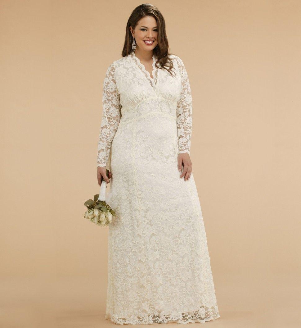plus size wedding gowns plus size wedding gowns Plus Size Lace Jacket Wedding Dress for the Curvylicious Women