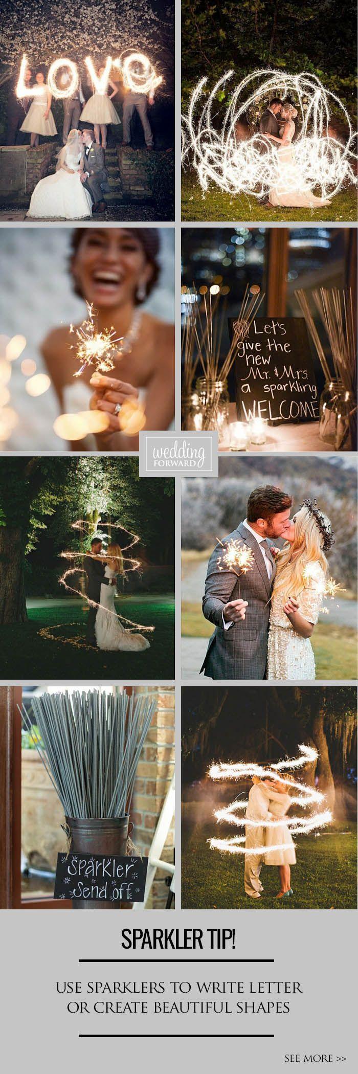 wedding send off ideas 3 Sparkler Photo Ideas Tips Keep reading for tips for perfect wedding sparker photos