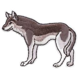S 4664 Grey Wolf Size 2 Embroidered Patch Mix and Match 2 Fun