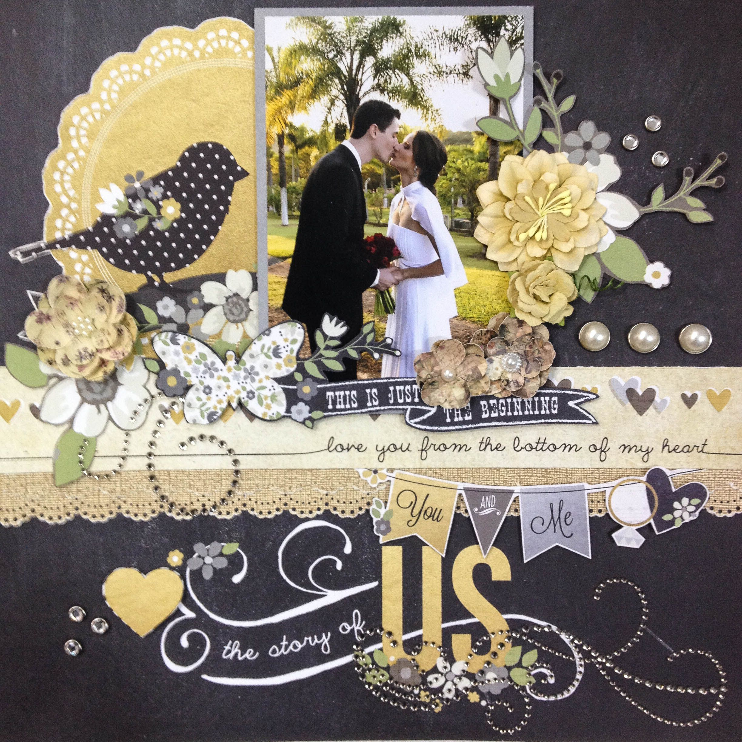 wedding scrapbook The Story of Us Scrapbook wedding layout