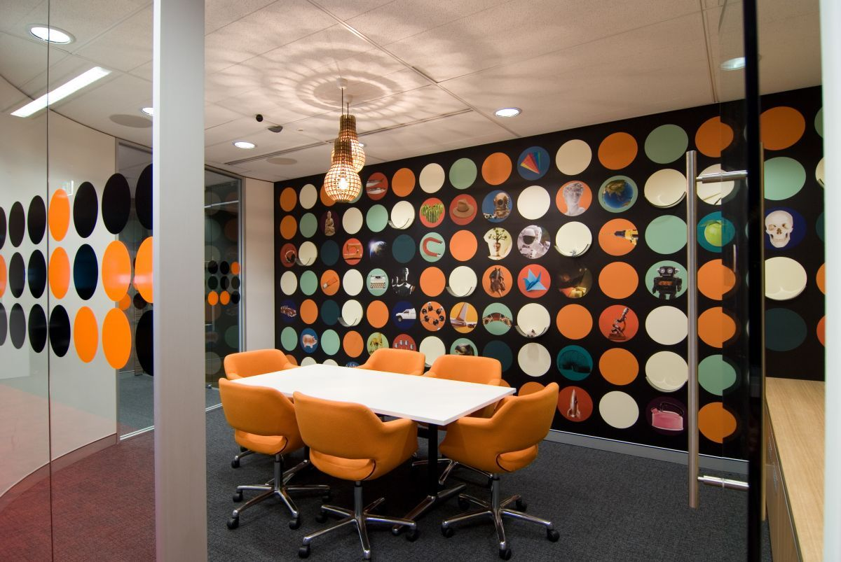 office u0026 workspace cool interior designs with orange color themes domination featuring white table small business design ideas