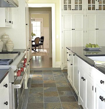 Fine Slate Floor Tiles Kitchen Flooring Ideas With Perfect Design