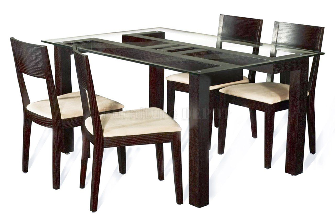 wood kitchen table sets Furniture Top Notch Dining Table With Round Beveled Edge Tempered