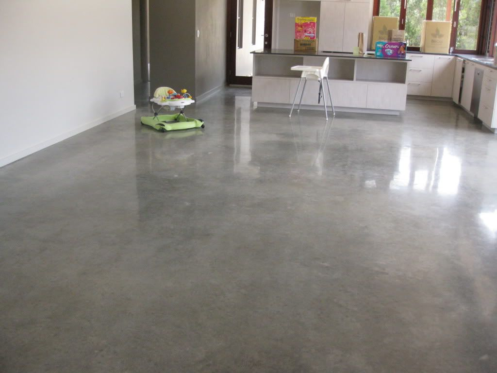 concrete floor kitchen New to this forum and have been poking around and noticed that some people have used polished concrete in their living areas and thought Love this Floor
