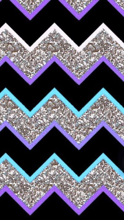 Purple teal grey glitter chevron   Iphone Wallpapers ...