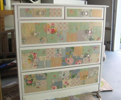 Two Vintage Wallpaper Furniture Makeovers: A Patchwork Dresser and ... | Projects | Pinterest ...