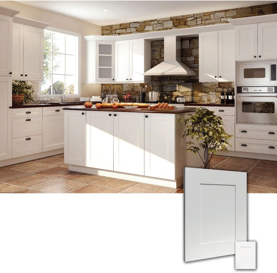 ice white shaker kitchen cabinets shaker kitchen cabinets Ice White RTA Shaker style Kitchen Cabinets Wood Birch Finish White matching