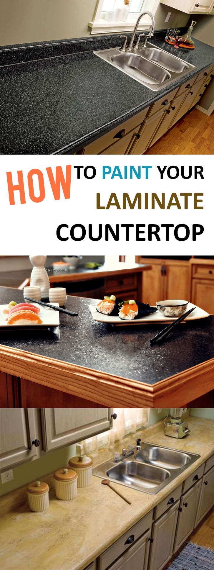 inexpensive kitchen countertops How to Paint Your Laminate Countertop