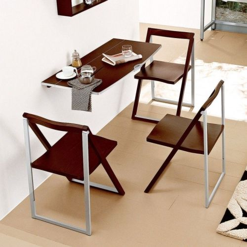 small kitchen table set Dining Room Modern Simple Design For Small Dining Space With Floating Wooden Stainless Steel Kitchen