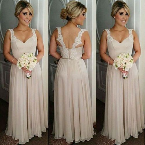Medium Of Champagne Bridesmaid Dresses