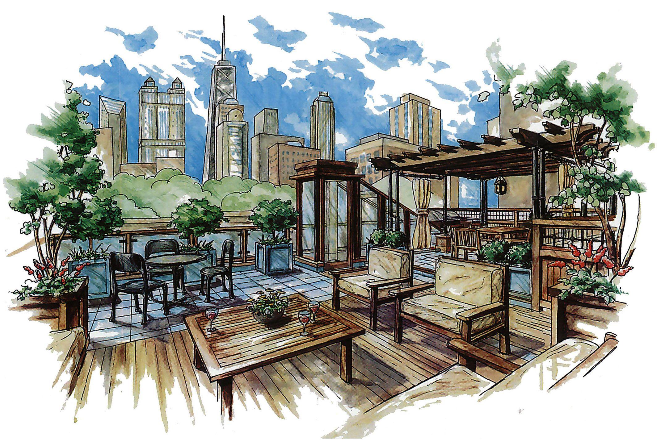 Interesting Architecture Design Sketches Urban Landscape For Decor