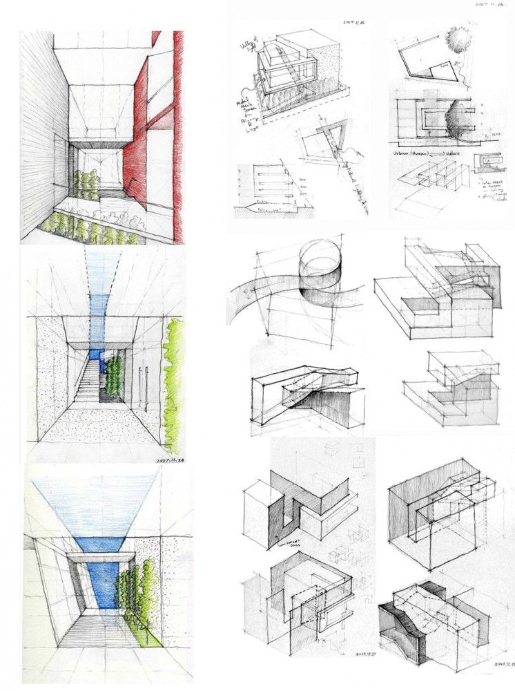 Unique Architecture Design Sketches Great They Are Still With Decorating