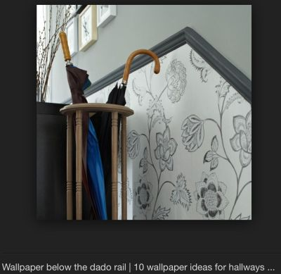 Wallpaper below dado rail | For the Home | Pinterest | Dado rail and Hallway designs