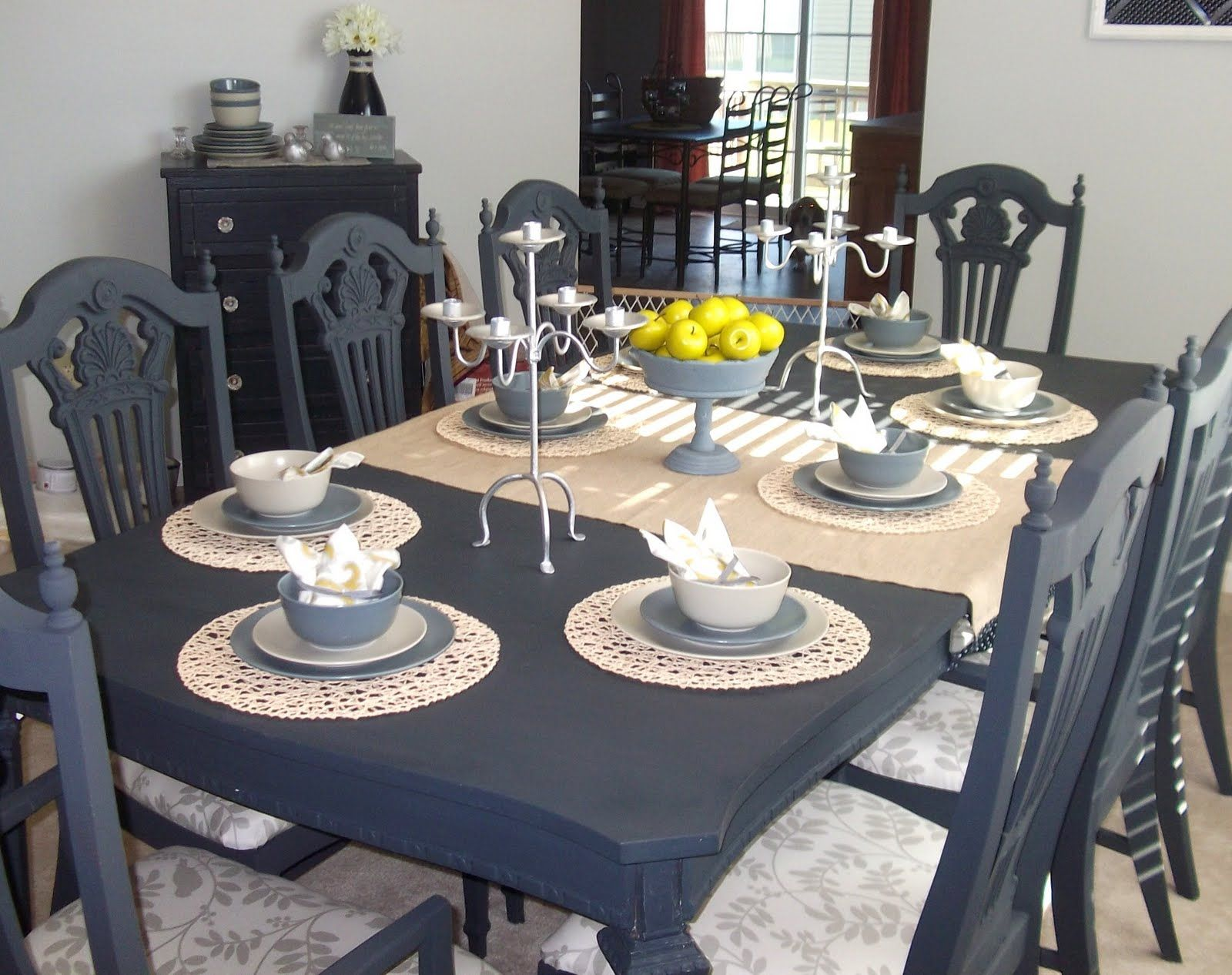 refinish kitchen table paint dining table just love this dining table that Rachel from Absolutely Loving My