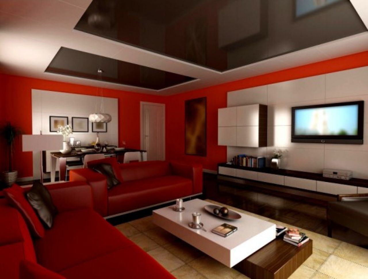 Modern Paint Colors Living Room Modern Living Room Painting Ideas With Leather Red Sofa Complete Cushion And White Brown Paint Colors E