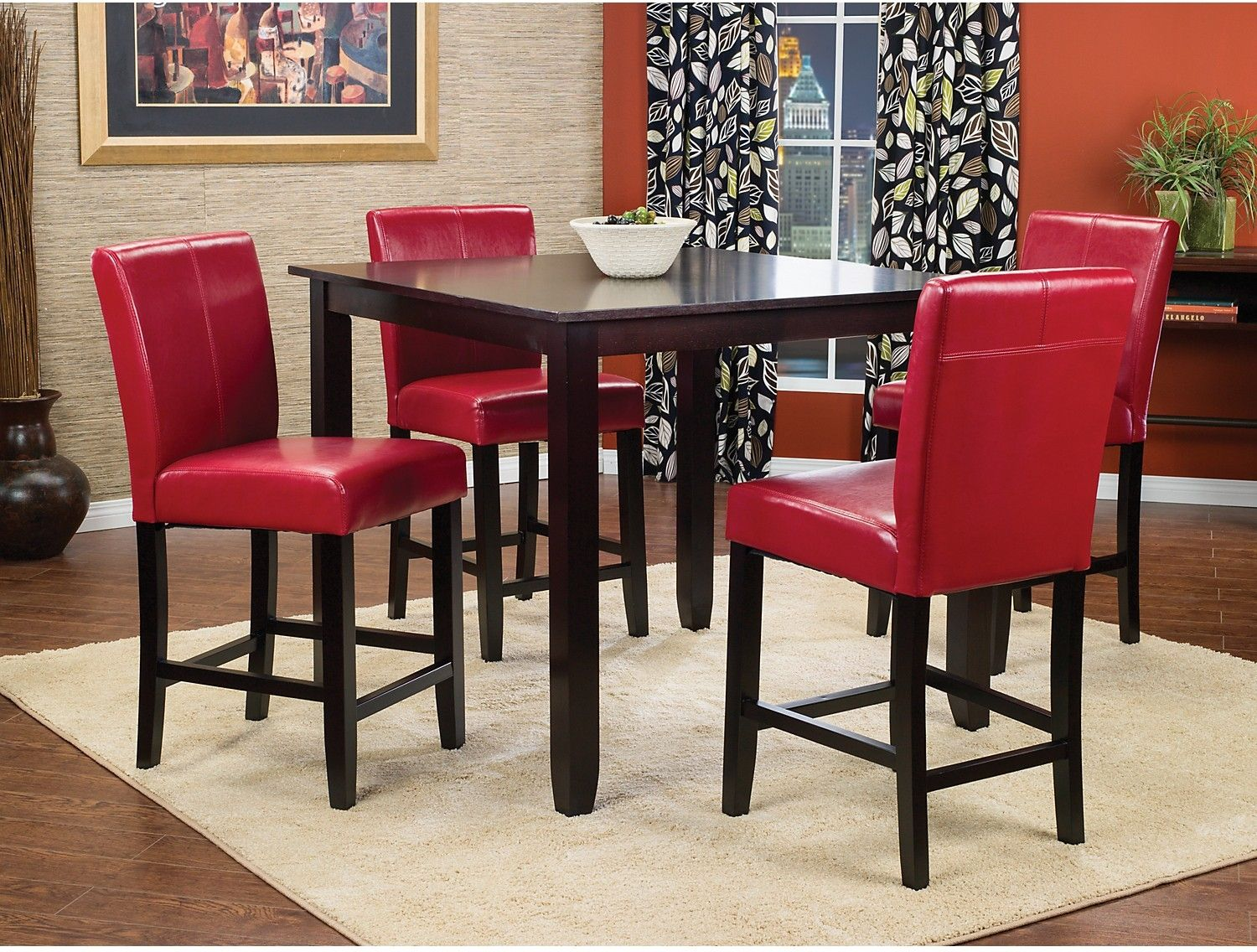 counter height kitchen chairs Furniture Nicole 5 Piece Counter Height Dining