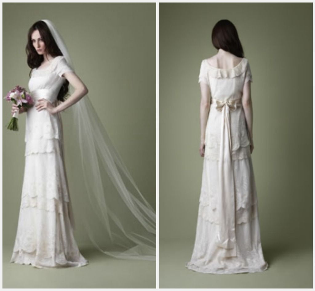 retro wedding dresses Vintage Style Wedding Gown Inspirations Weddings the Joys and Jitters