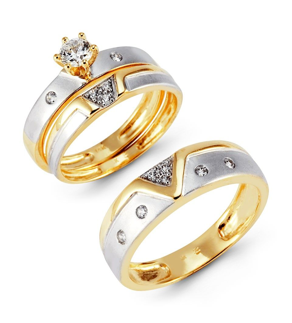 wedding rings set Trio Wedding Ring Sets Yellow Gold Photo Ideas