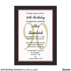 Small Of 90th Birthday Invitations