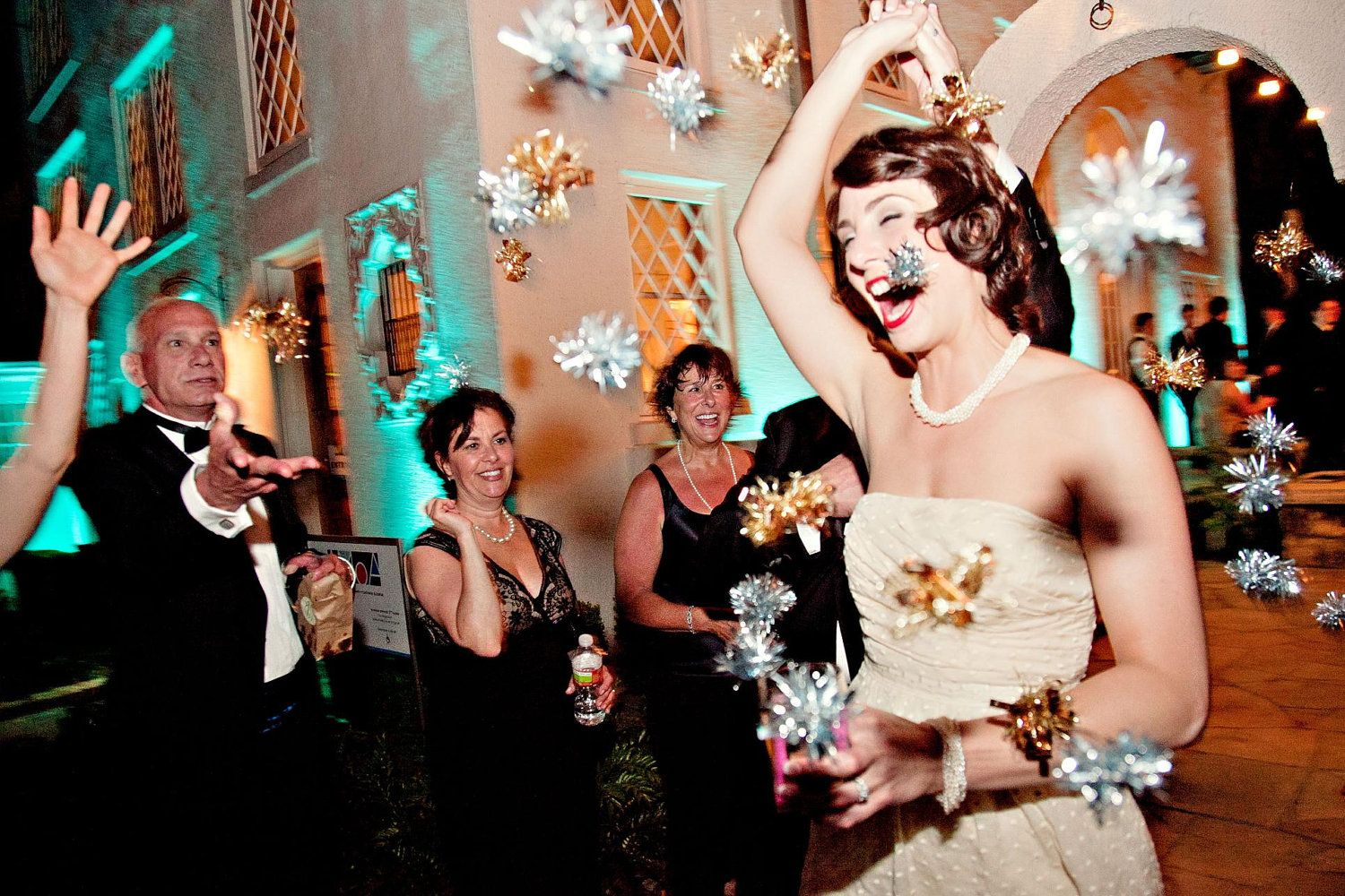 wedding send off ideas Twinkle Poms Wedding Ceremony Exit New Colors Now Available