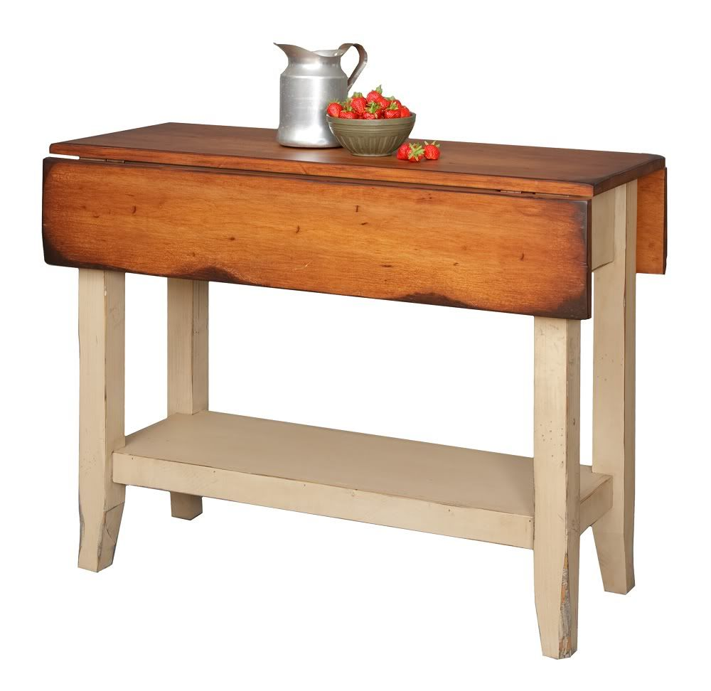 kitchen work tables Primitive Kitchen Island Table Small Drop Side Farmhouse Country Farm Furniture