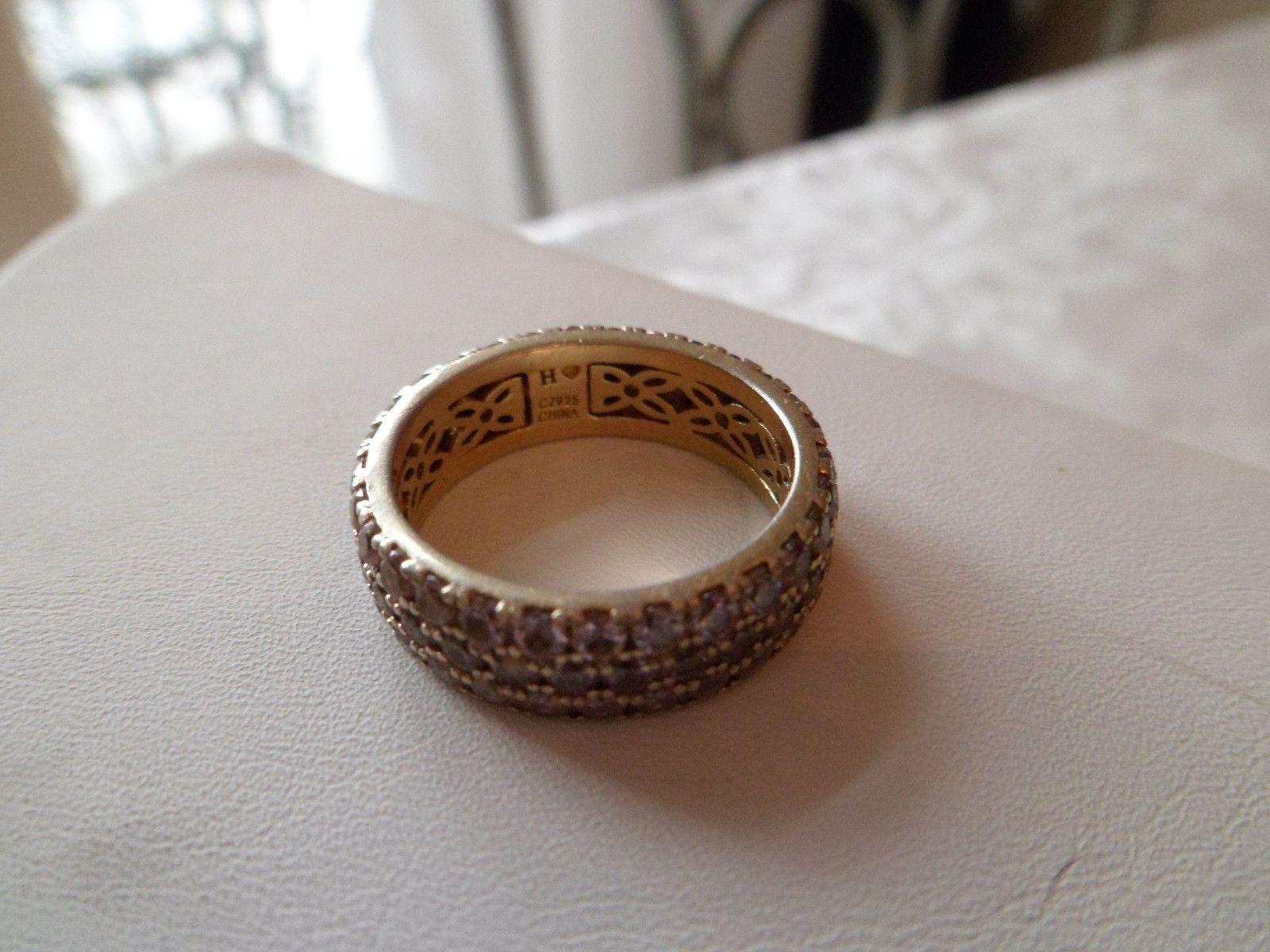 hsn wedding rings Hidalgo Diamonique Rose Gold Sterling Mega Pave Pink Eternity Ring QVC eBay