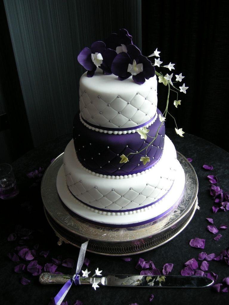 purple and silver wedding Purple And Silver Wedding Cake Wedding Cakes Ticky Dix Cakes Woking Surrey