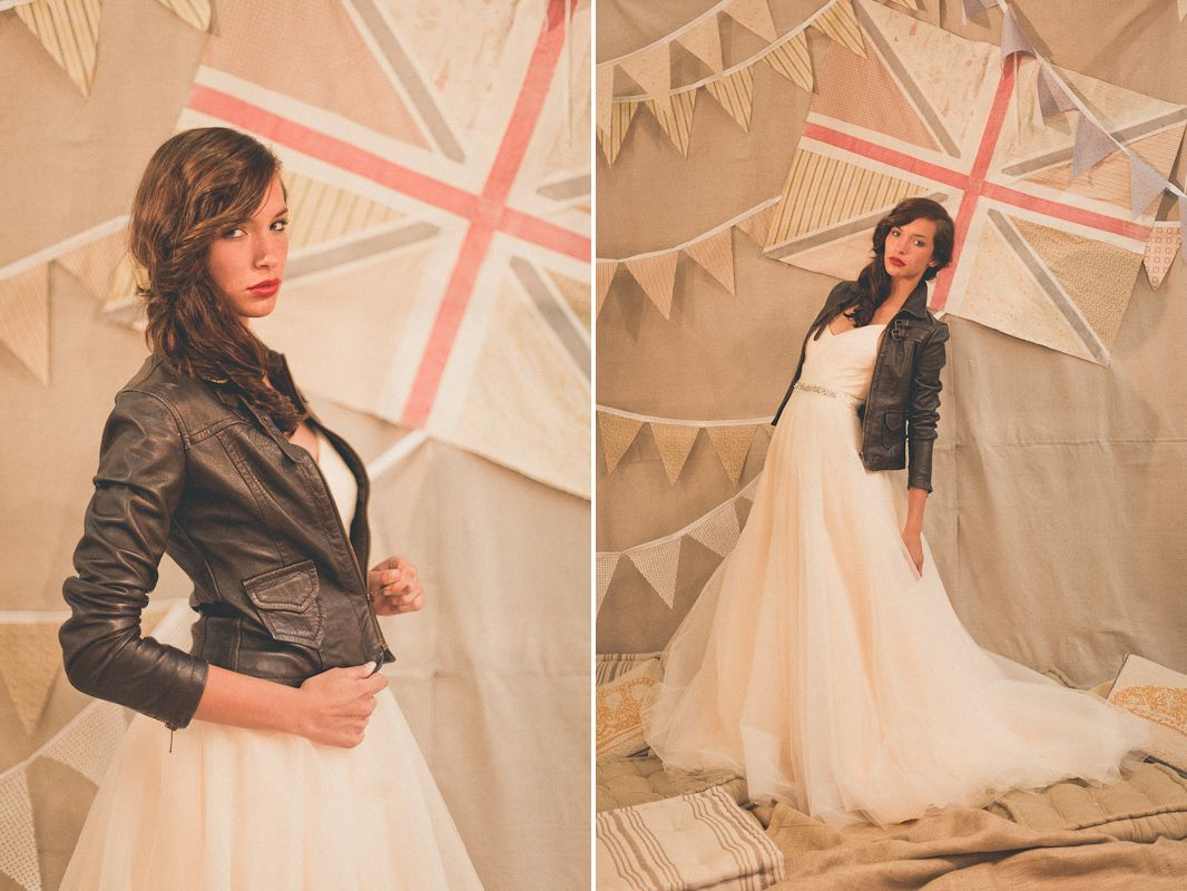 leather wedding dress Shmaya this flowy dress leather jacket combo reminded me of you Ivy and Aster