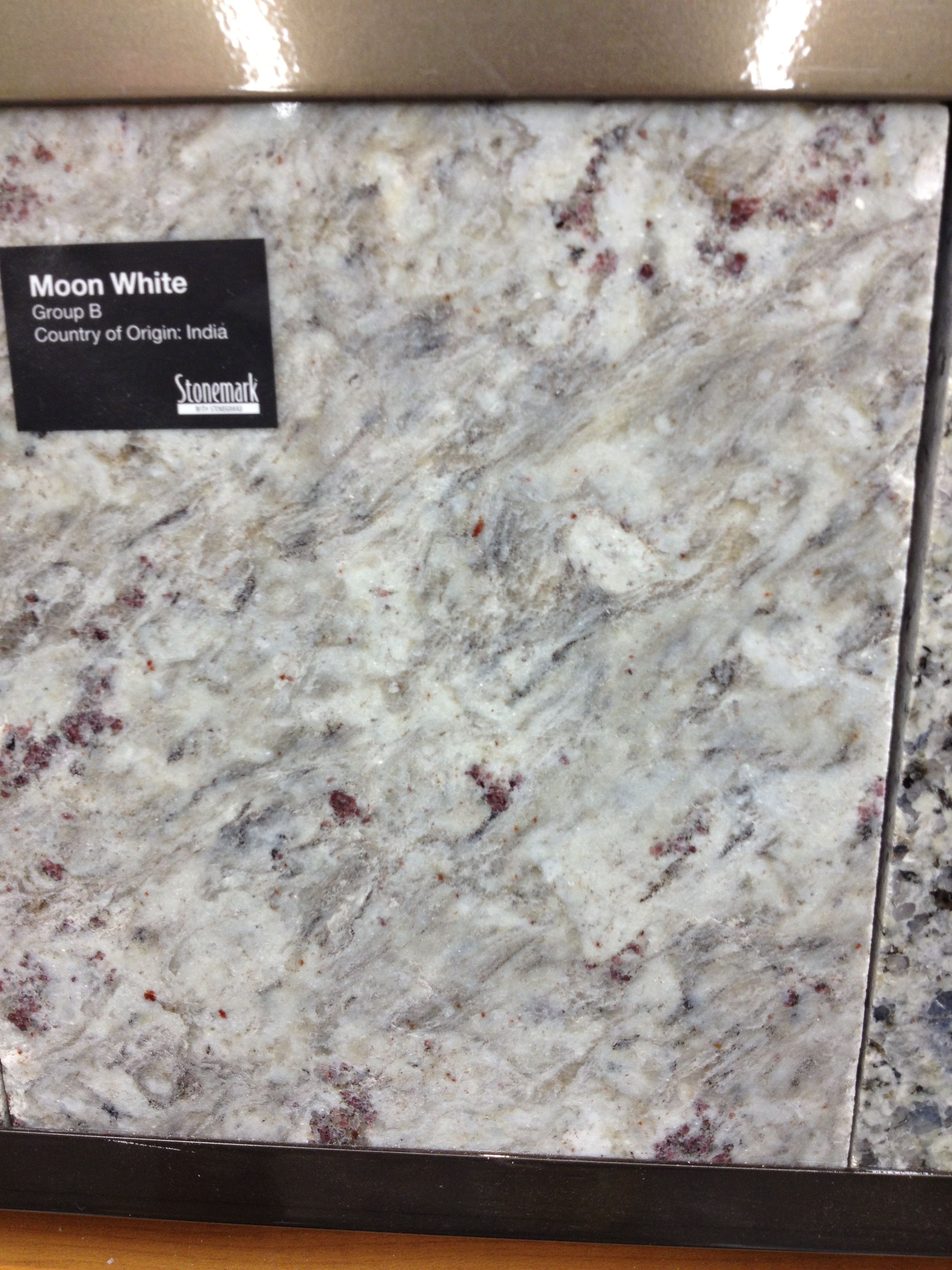 kitchen countertops home depot Moon White granite very much like Kashmir White but less speckly and more swirly