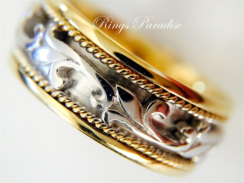 viking wedding bands Claddagh Ring Men s Women Scottish Ring Unique 14k Gold Wedding Bands Celtic Engagement Ring Irish Ring Viking Ring His Hers Bands