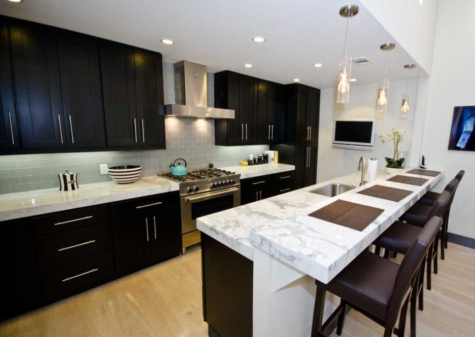 Concept Black Kitchen Cabinets With White Marble Countertops Result For Best Color To Paint A And Decorating
