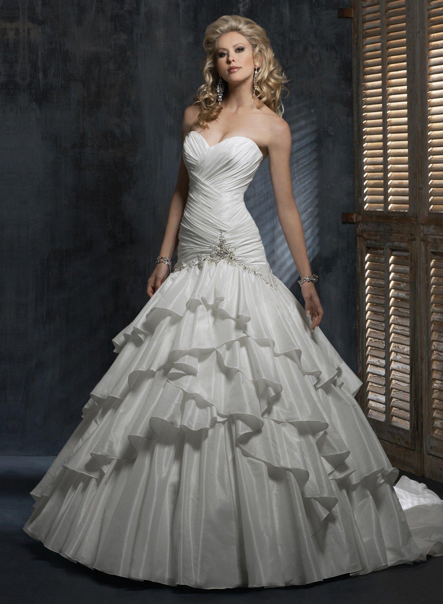sweetheart neckline wedding dress Bordeaux Taffeta Strapless Sweetheart Neckline A line Wedding Dress