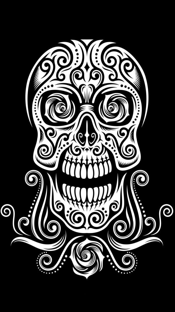 Wallpaper Tap And Get The Free App Hard Skull Black Tribal Beautiful