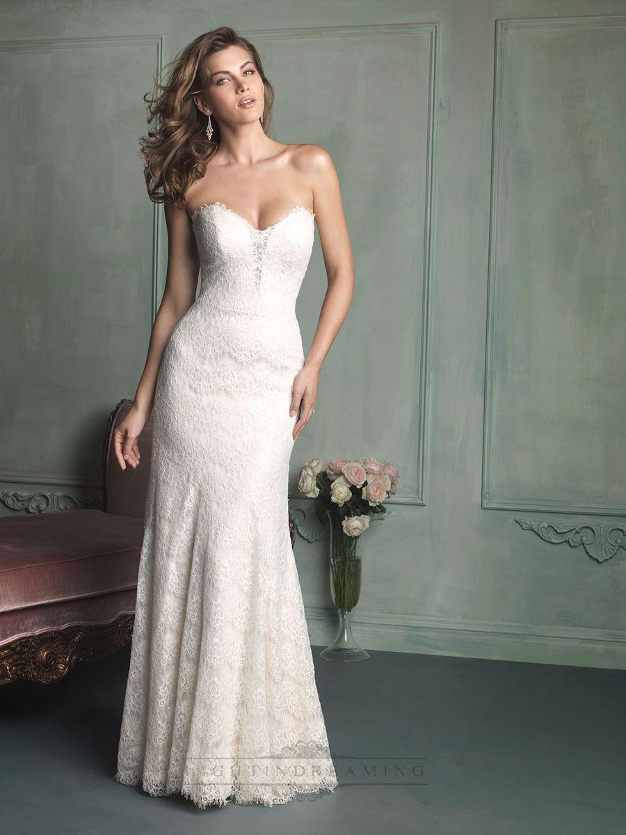 wedding dresses strapless Lace wedding dresses
