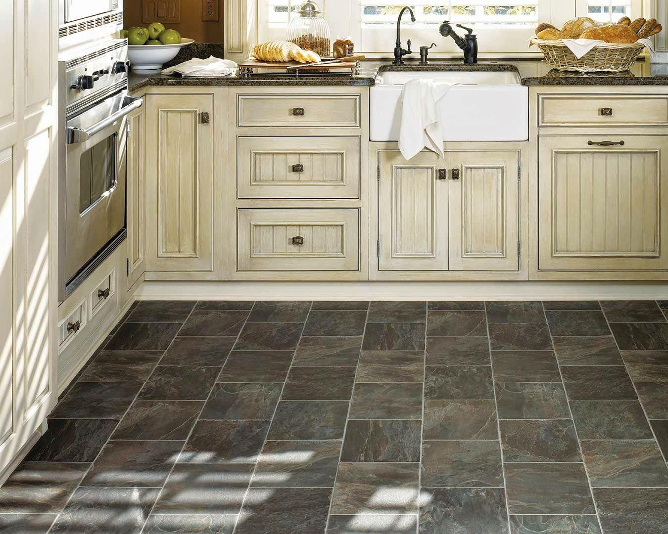 vinyl kitchen flooring pickled oak cabinets dark floors Best Black Vinyl Sheet Flooring For Small Kitchen With Old