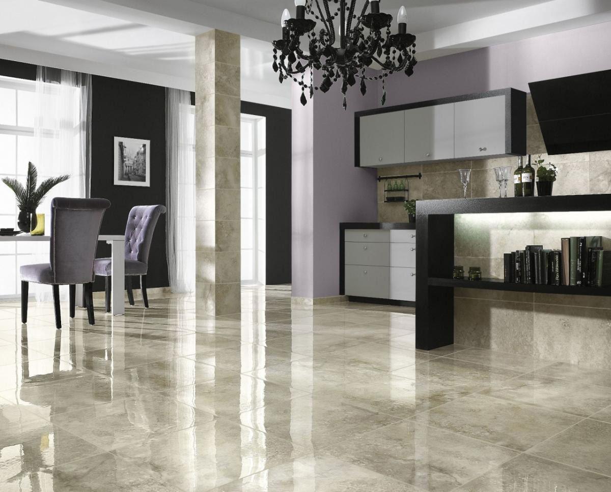 kitchen tile floors Glossy Marble Ceramic Tile Floor Ideas For Modern Living Room Use J K to