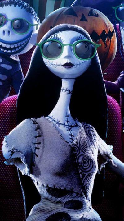 2014 Sunglasses Sally Jack Skellington iPhone 6 Wallpaper - Halloween Nightmare Before Christmas ...