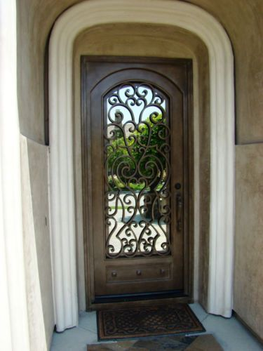 Delighful Single Front Doors Wrought Iron Entry Door Ebay For Creativity Ideas