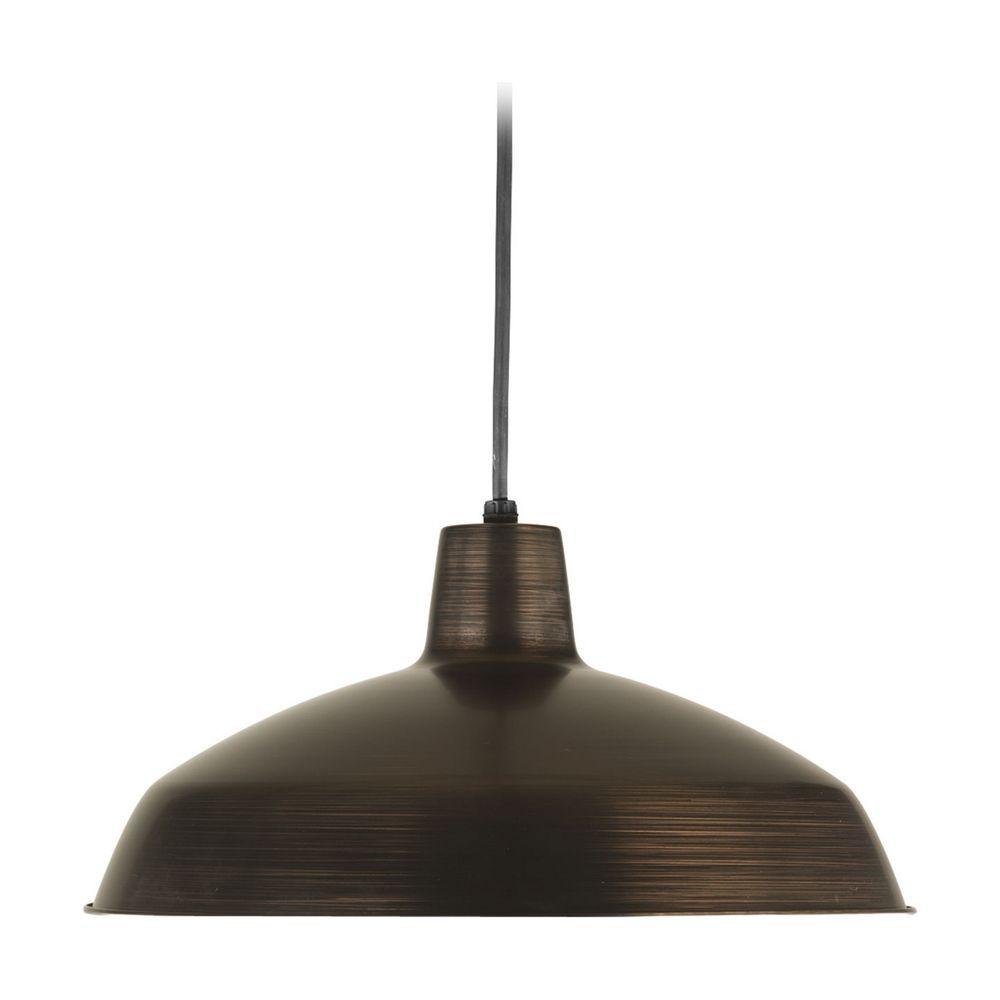 industrial kitchen light fixtures Progress Lighting Progress Warehouse Industrial Pendant Light with Bronze Metal Shade P 74