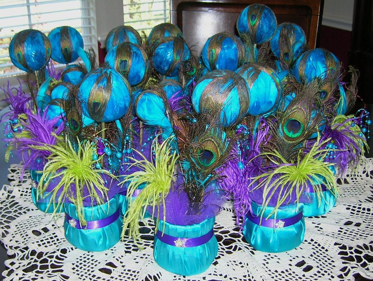 aa peacocks tablescapesweddingsparty wedding centerpieces for sale Peacock Centerpieces Peacock Wedding Reception Table Centerpiece by sljbridal on Etsy