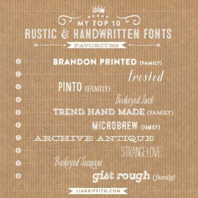 My Top Ten Favorite Rustic and Handwritten Fonts | Fonts ...