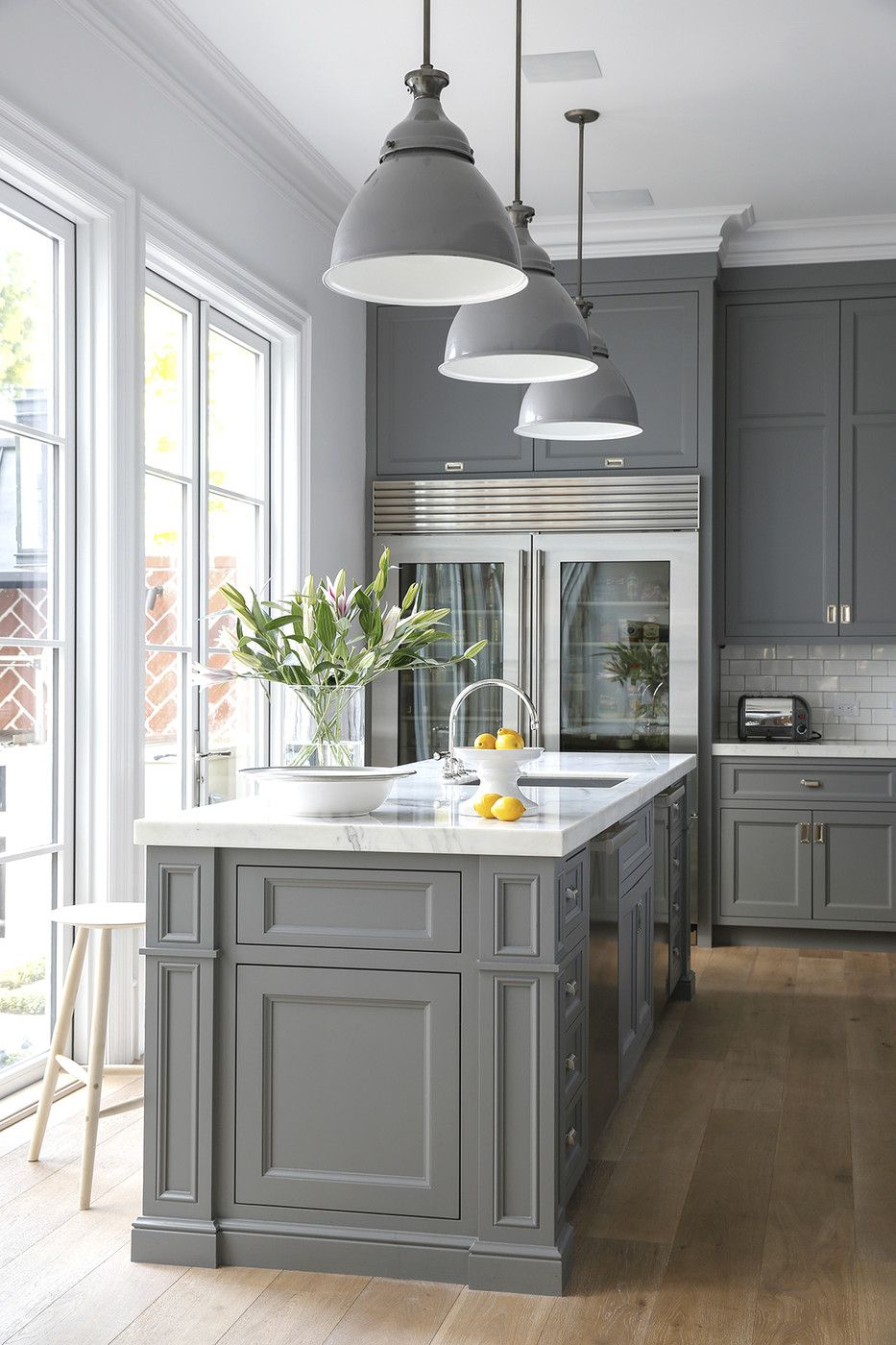 gray kitchen table Counter tops