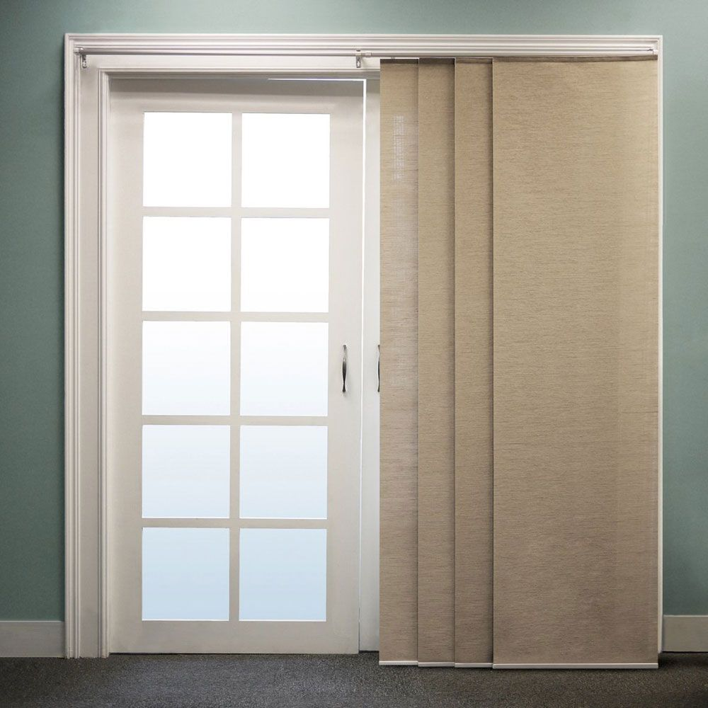 Plain Modern Curtains For Sliding Glass Doors Ikea Panel Intended Design