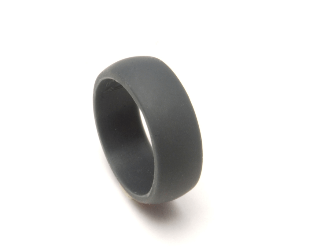 mens silicone wedding band QALO Slate grey silicon wedding ring for an active lifestyle QALORing com